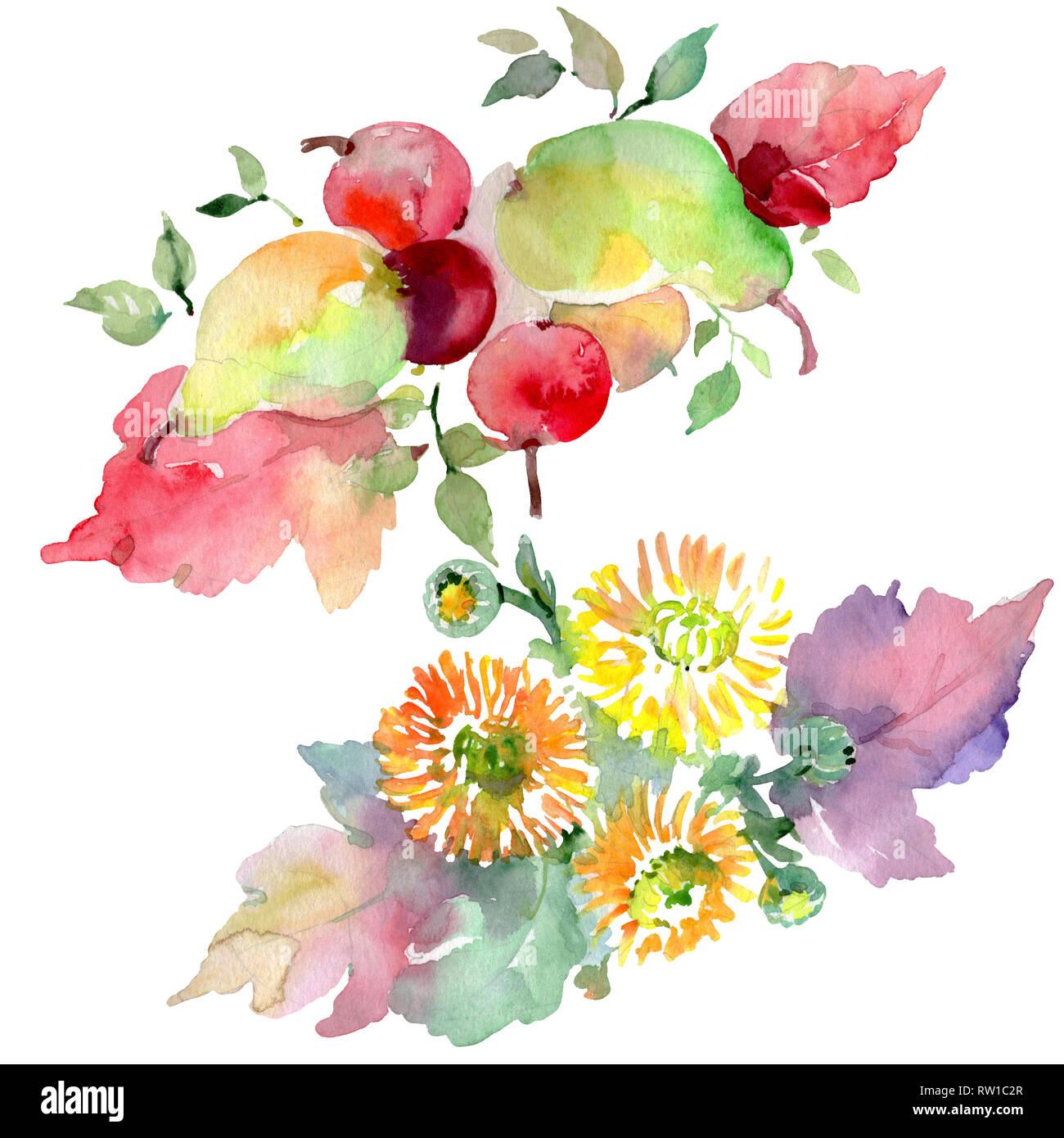 Ramos De Flores Y Frutas Lámina De Resorte Wildflower