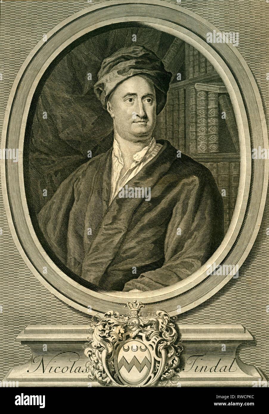 Traductor e historiador británico (historia de Inglaterra), después de haber grabado copperplate Knapton, alrededor de 1735, Copyright del artista no ha de ser borrado Imagen De Stock