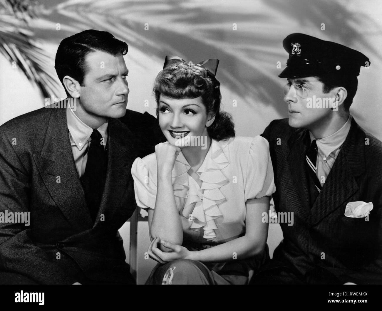 MCCREA,COLBERT,VALLEE, el Palm Beach Story, 1942 Imagen De Stock