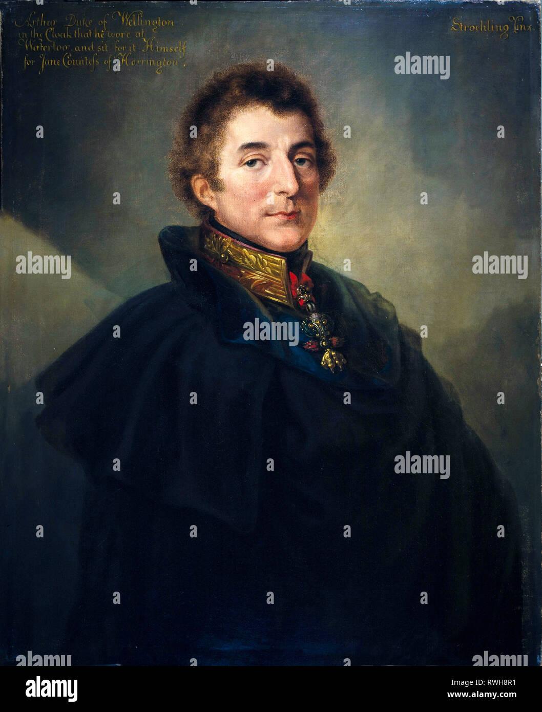 El mariscal de campo Arthur Wellesley, KG GCB (1769-1852), primer duque de Wellington, retrato, 1820 por Peter Edward Stroehling Foto de stock