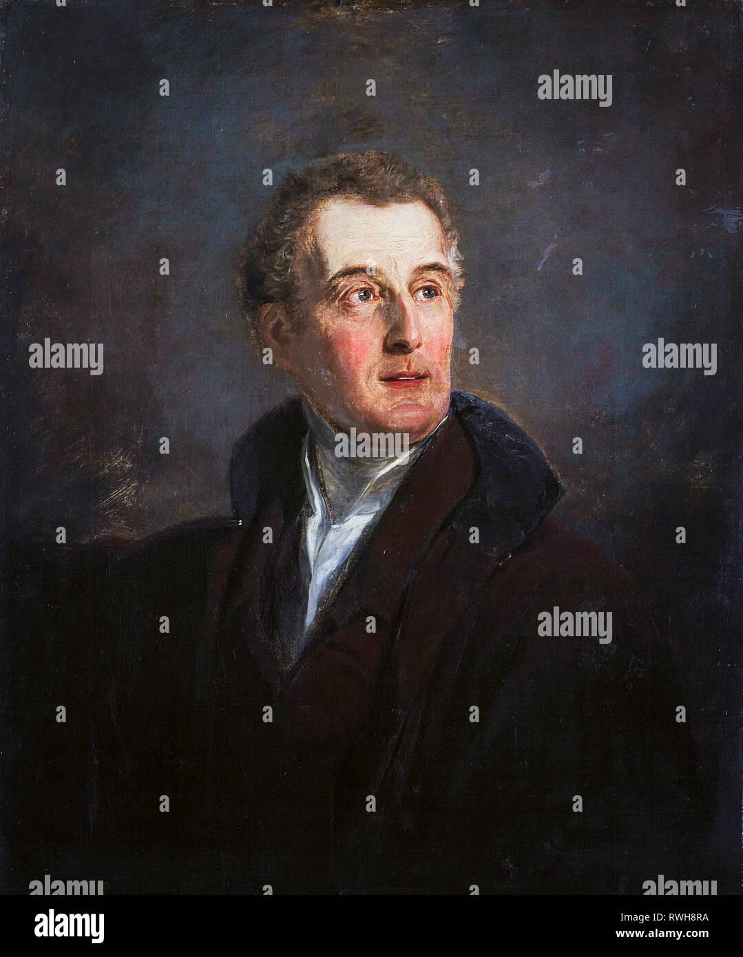 Arthur Wellesley, duque de Wellington (1769-1852), retrato de 1821, por Jan Willem Pieneman Foto de stock