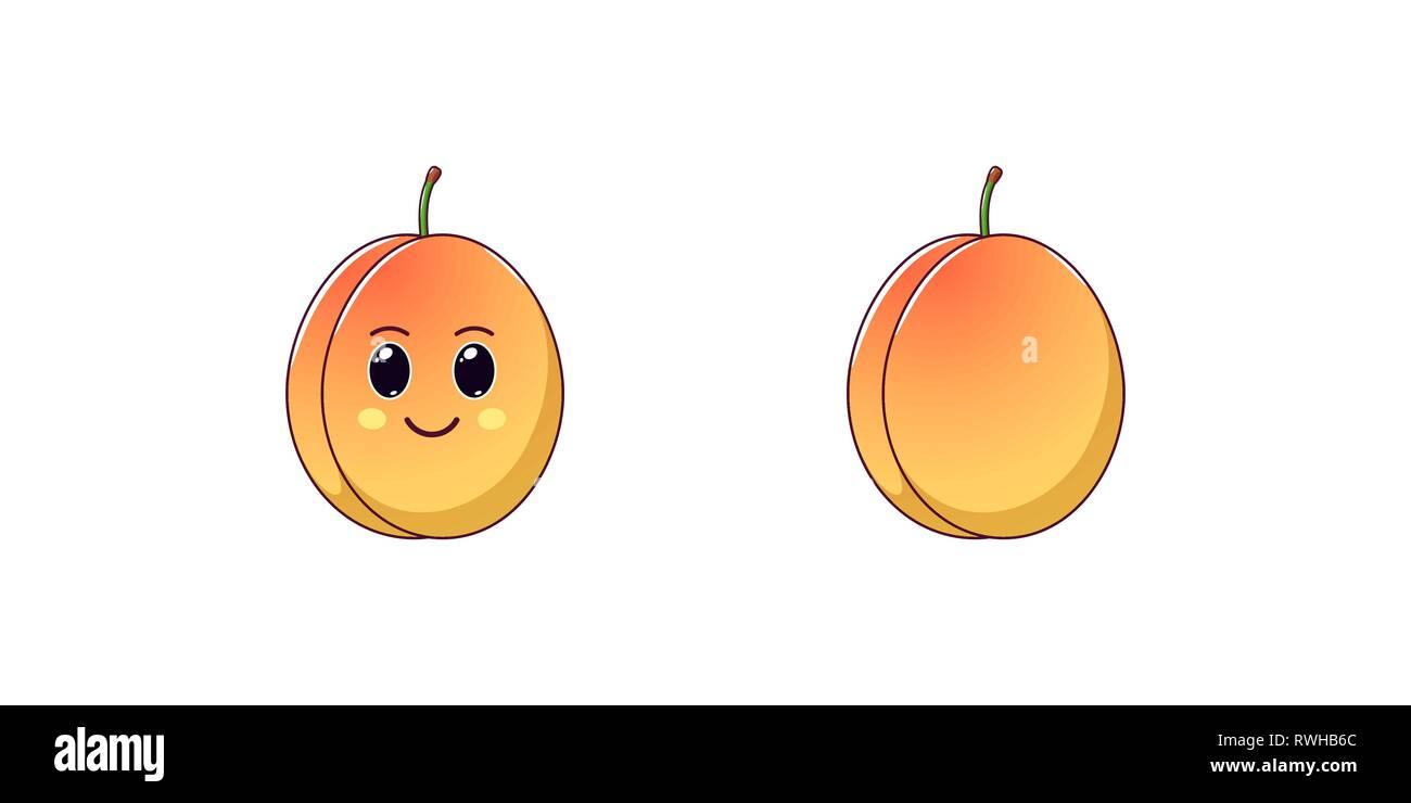 Vector Fruit Cartoon Character Imágenes De Stock Vector