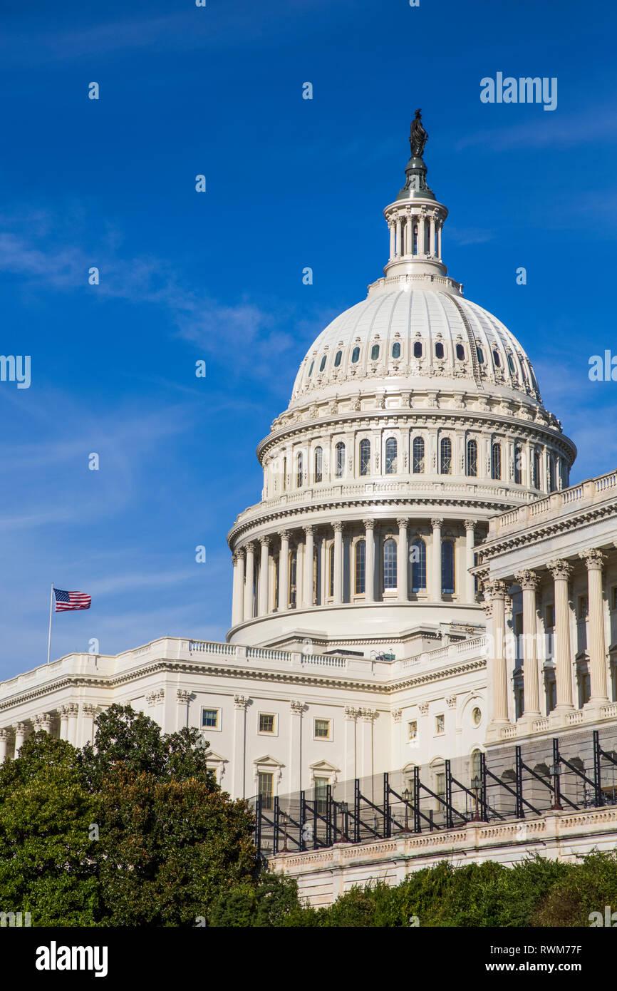 El edificio del Capitolio de los Estados Unidos, Washington, D.C., Estados Unidos de América Foto de stock