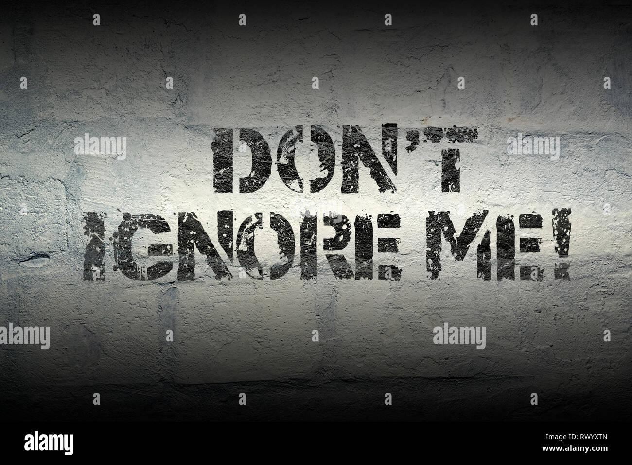 No Me Ignora Frase Cliché Imprimir En El Grunge Pared De