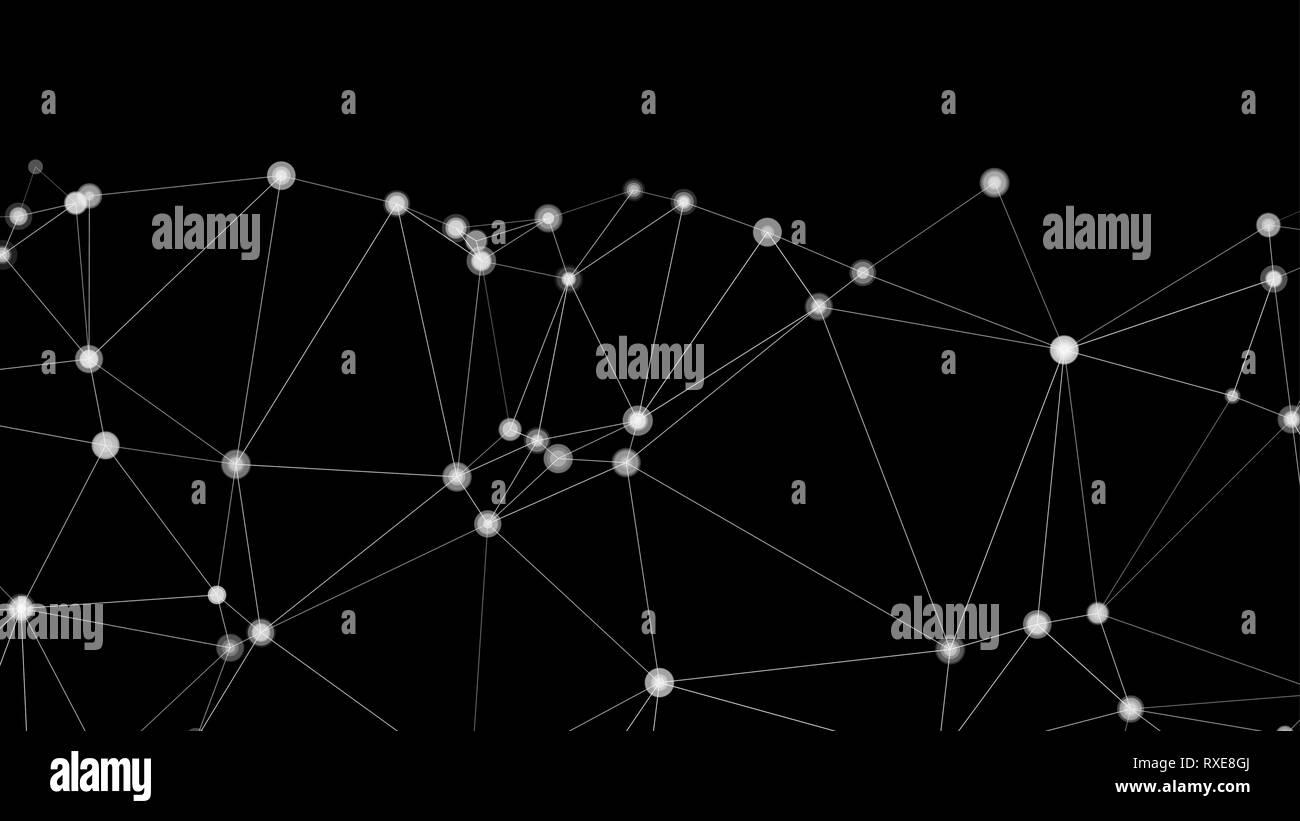 Ilustración de conectividad idea, diseño geométrico vector aleatorio Ilustración del Vector