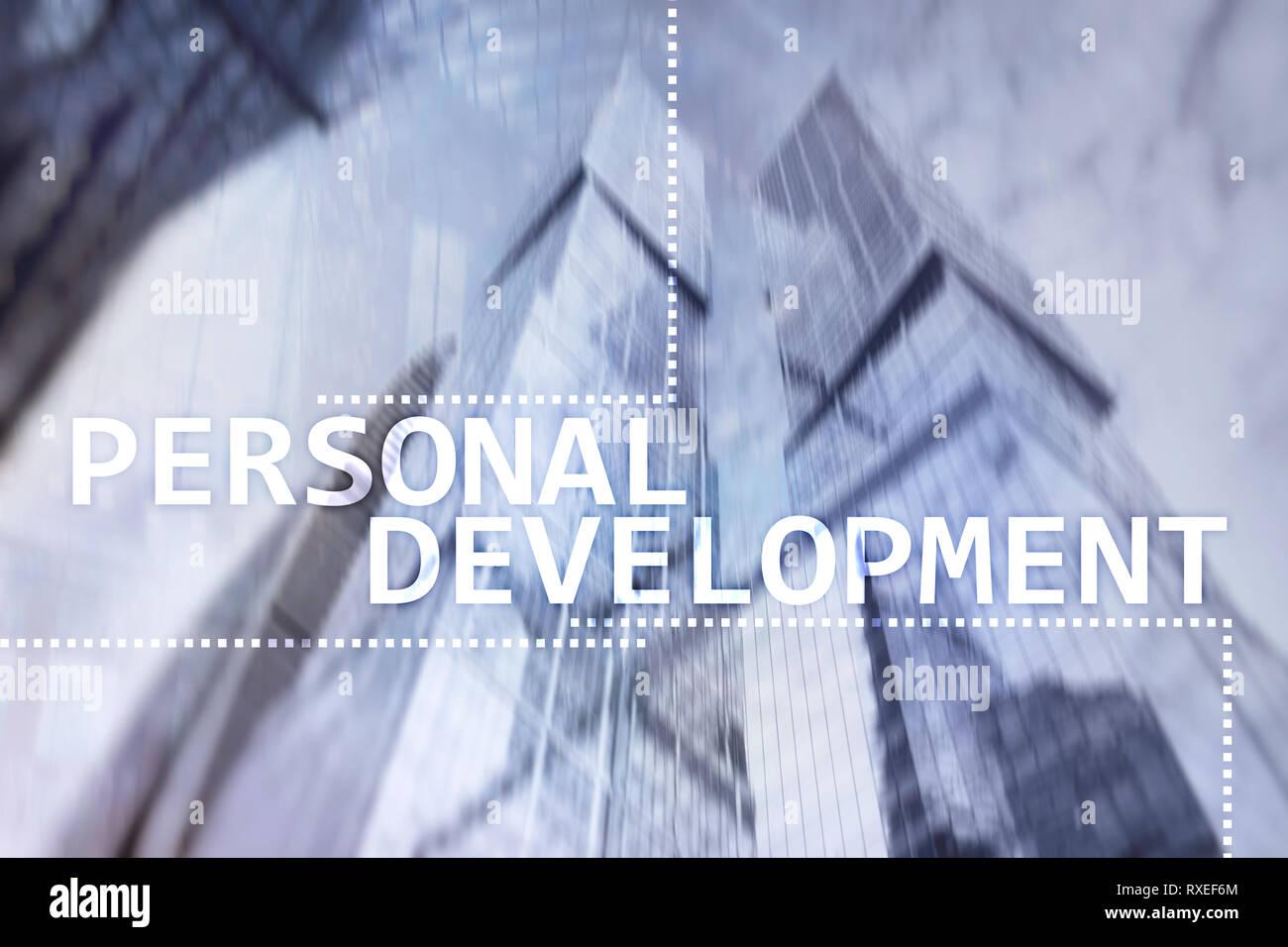 Desarrollo y crecimiento personal concepto de exposición doble fondo. Imagen De Stock