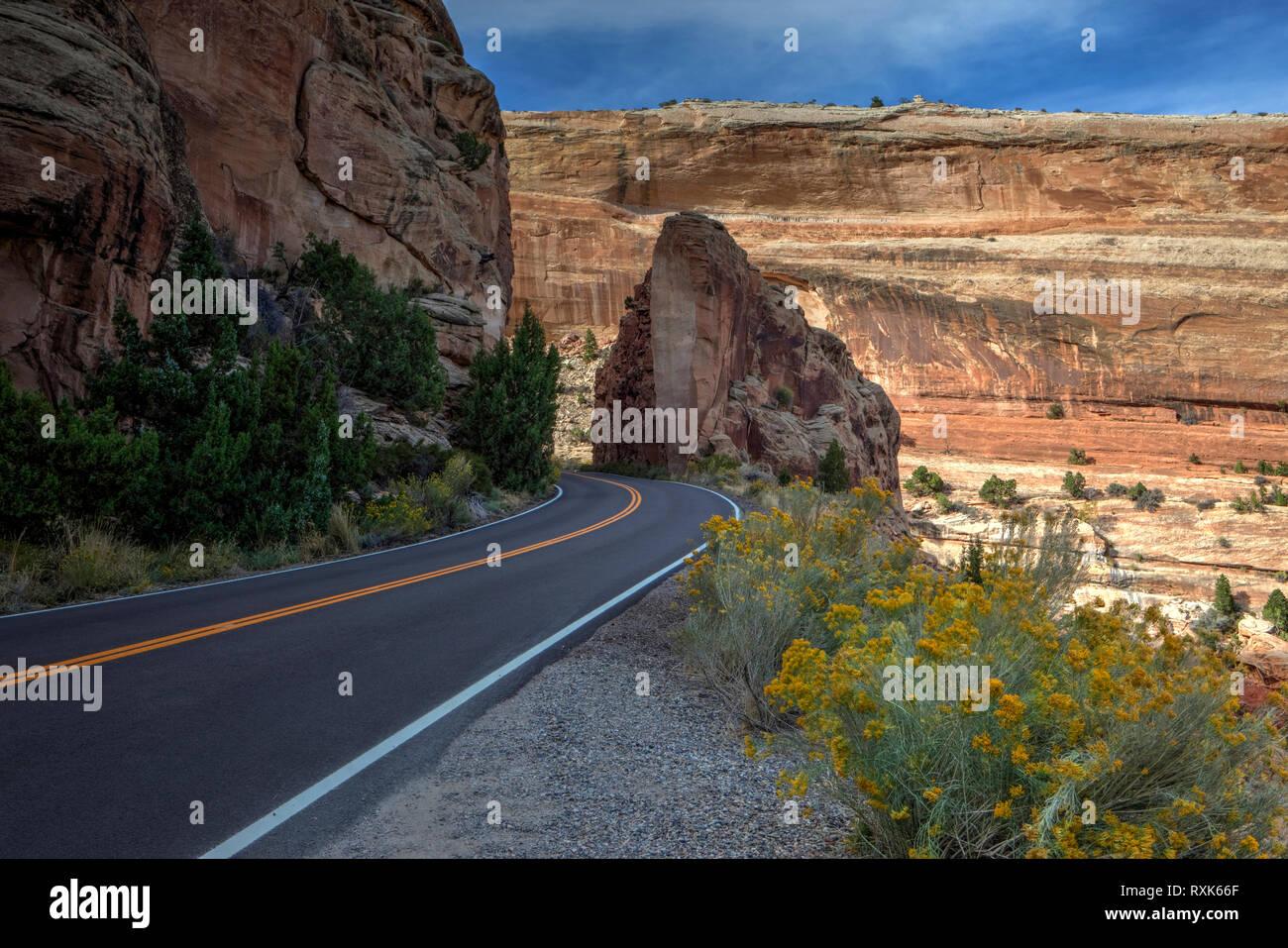 Monumento Nacional de Colorado, Colorado, EE.UU. Foto de stock