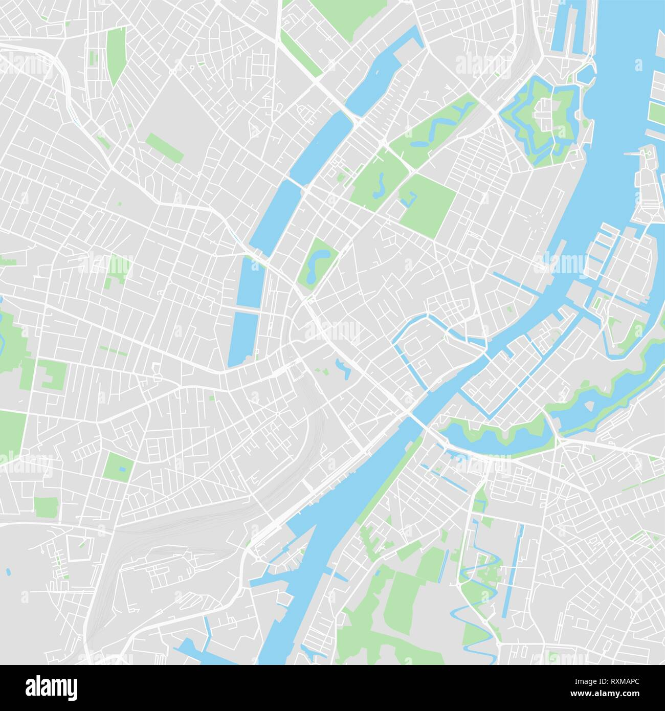 Mapa De Vectores En El Centro De Copenhagen Dinamarca Este Mapa