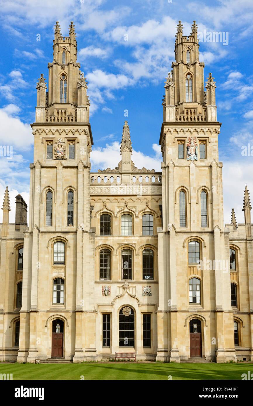 All Souls College, Oxford, Inglaterra, Reino Unido Foto de stock