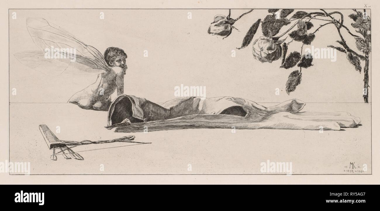 Un guante: Amor, 1880. Max Klinger (alemán, 1857-1920). Aguafuerte Imagen De Stock