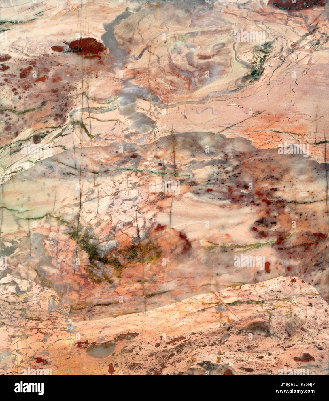 Sección transversal de jasper hace una escena surrealista. Foto de stock