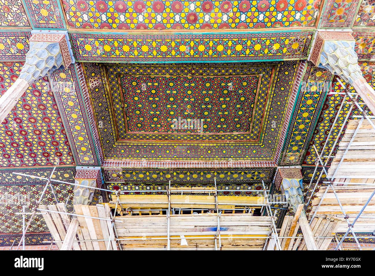 Isfahan Ali Qapu Palacio Real Con Balcón Terraza Con Pilares