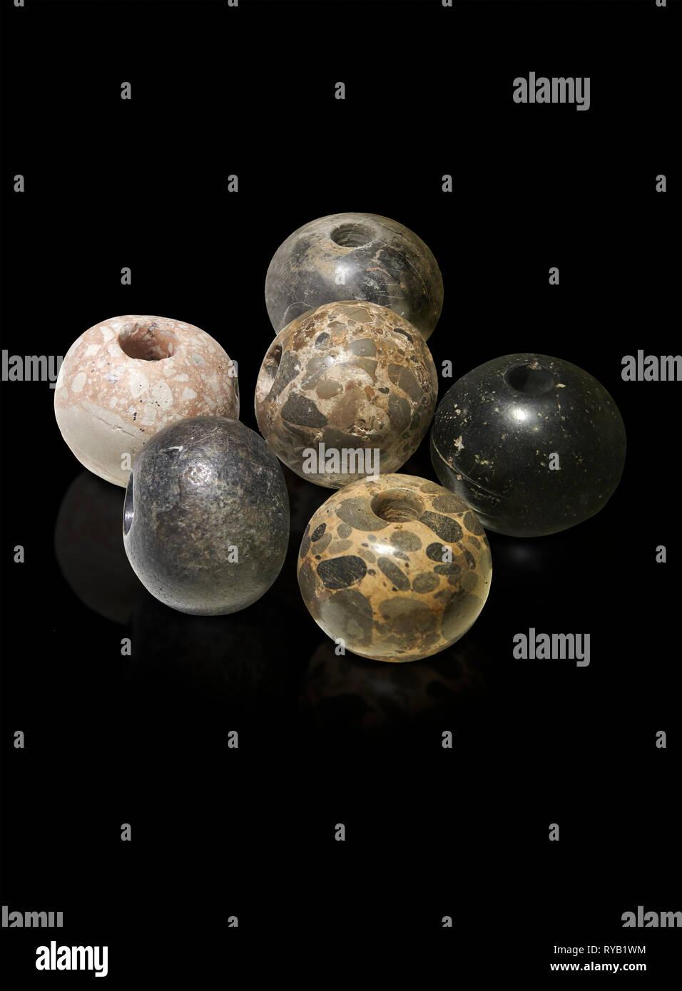 Neolítico piedra redonda telar de pesas. 6000 BC. Catalhoyuk colecciones. Museo de las Civilizaciones de Anatolia, Ankara Foto de stock