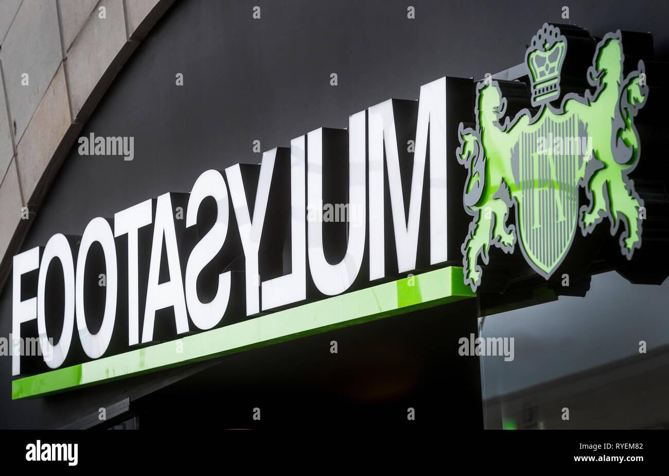 Tienda Footasylum en Southampton. Imagen De Stock