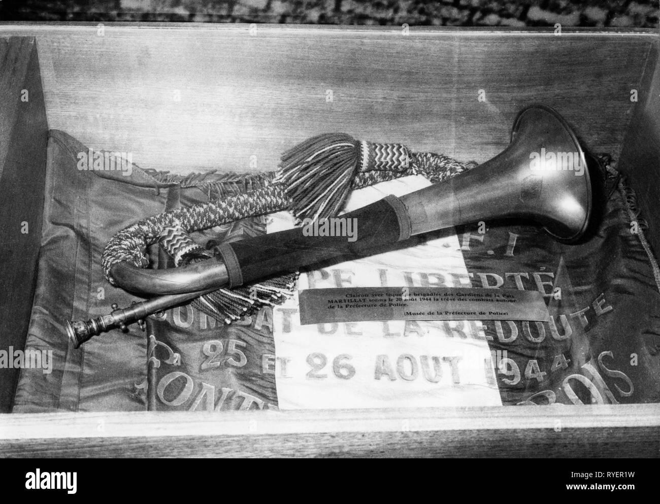 Geografía / viajes, Francia, política, exhibición en ocasión del aniversario de la liberación de París, el Hotel des Invalides, Salle Carlomagno, Agosto 1964-Clearance-Info Additional-Rights-Not-Available Imagen De Stock