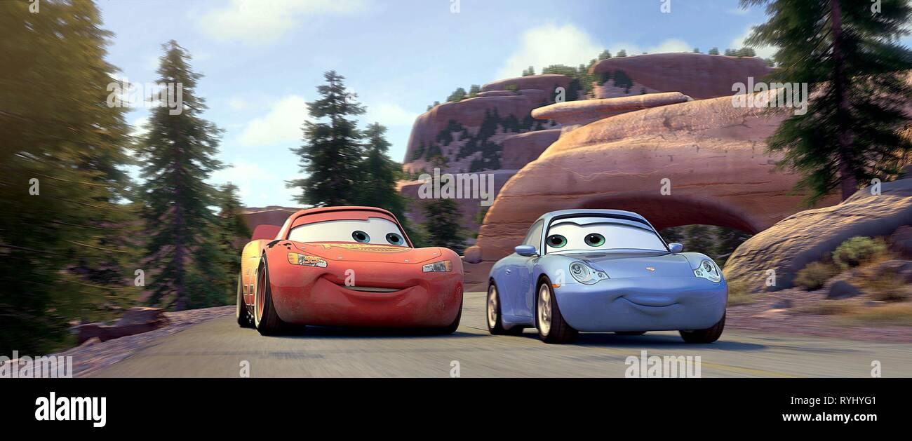 Lightning Mcqueen Sally Carrera Cars Imágenes De Stock & Lightning ...