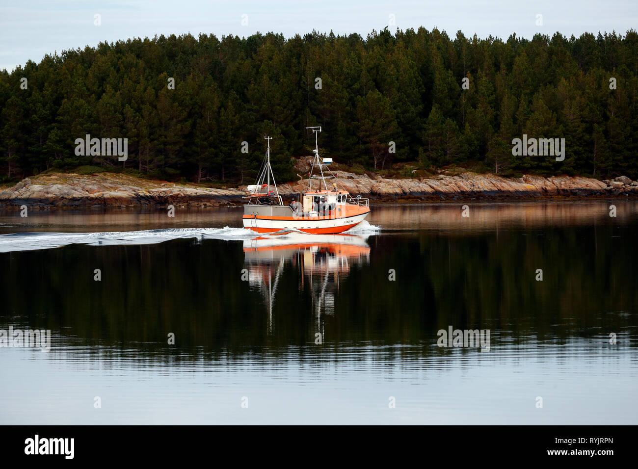 La pesca de arrastre. Noruega. Foto de stock