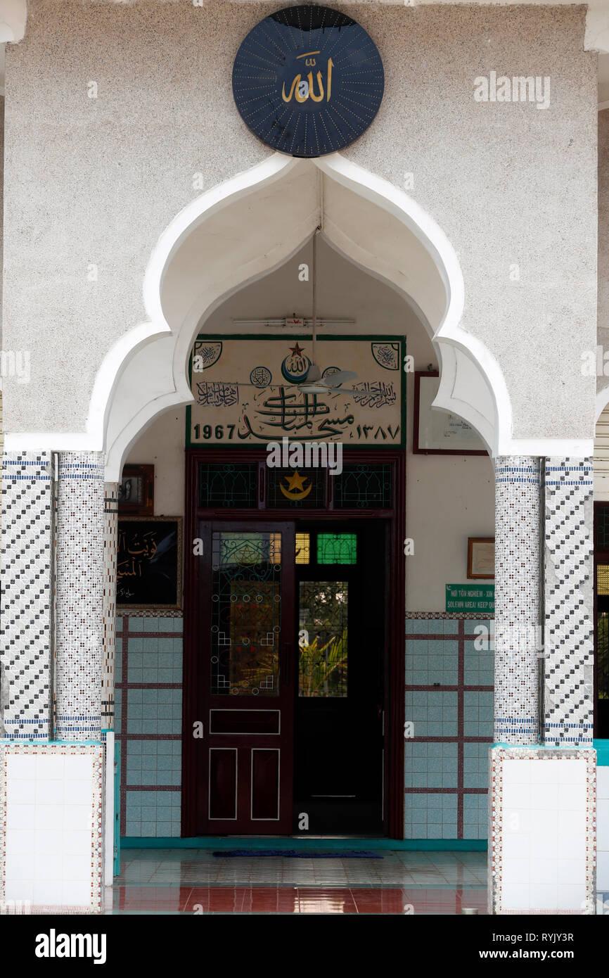 Mezquita de Mubarak. Chau Doc. de Vietnam. Foto de stock