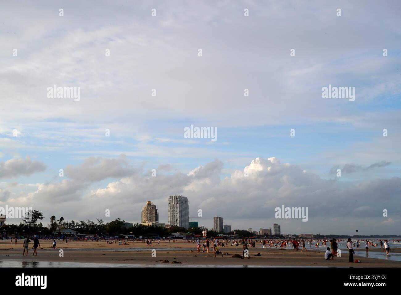 La playa de Vung Tau. Vietnam. Foto de stock