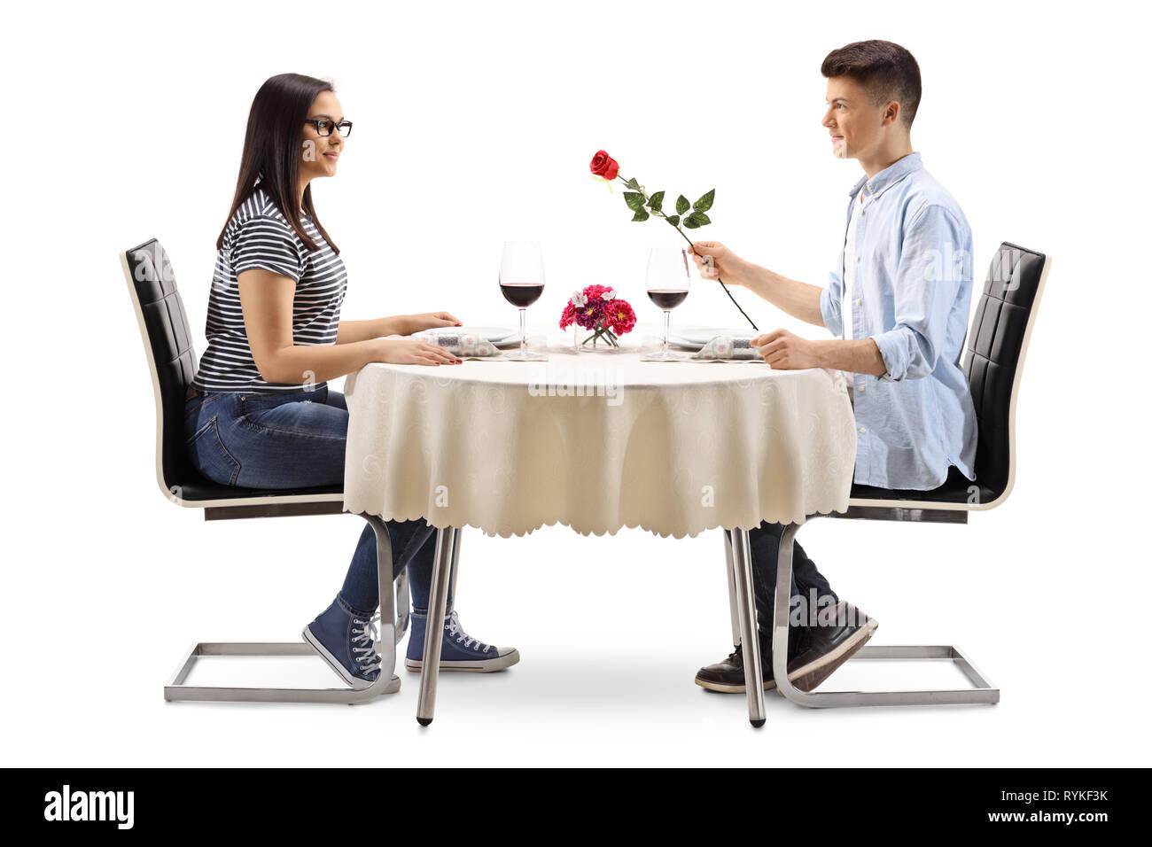 341a87ce4f2c Mujer Sentada En Una Cita Imágenes De Stock & Mujer Sentada En Una ...