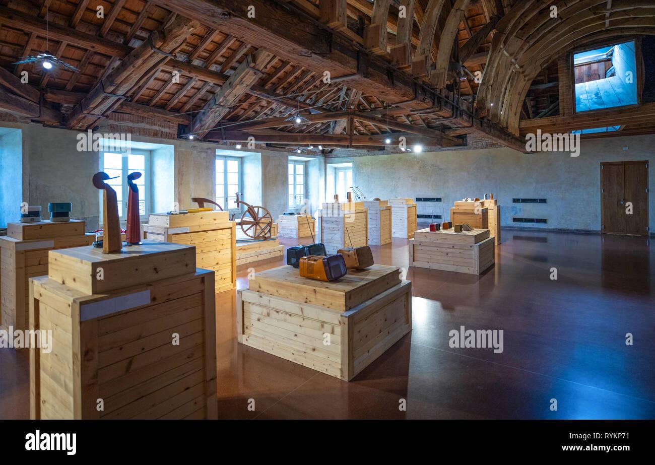 Italia, Monza , exposición de arte moderno en el ático de la villa real Imagen De Stock