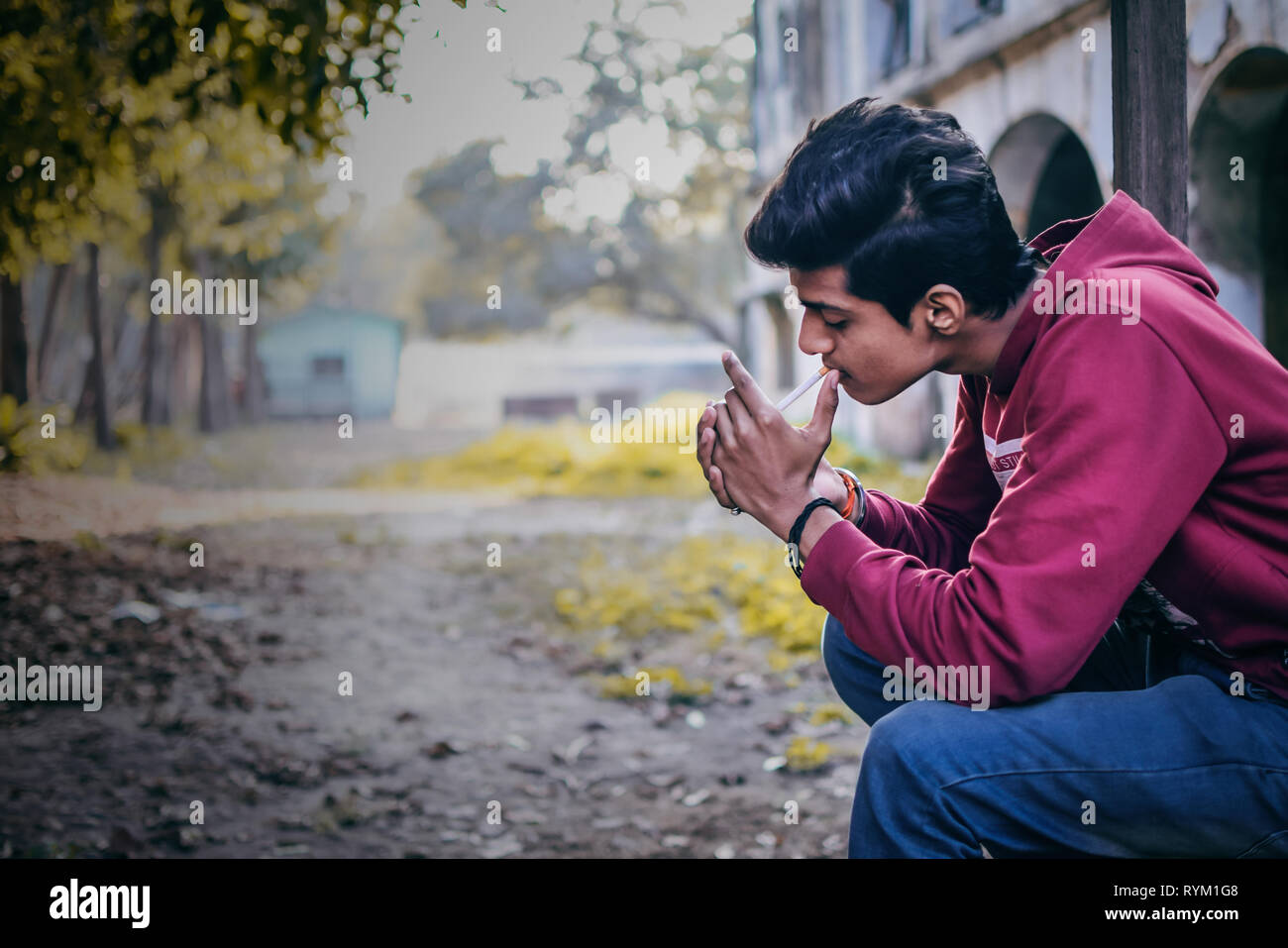 Los fumadores siempre quieren la paz Imagen De Stock