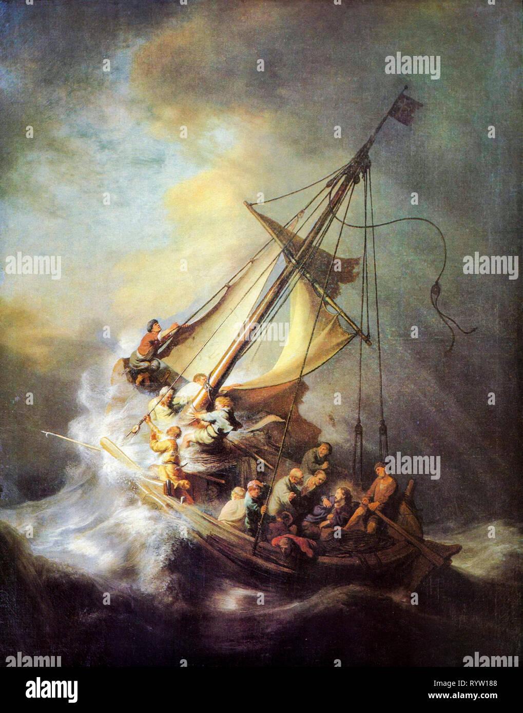 Cristo En La Tormenta En El Mar De Galilea Fotos E Imágenes De Stock Alamy