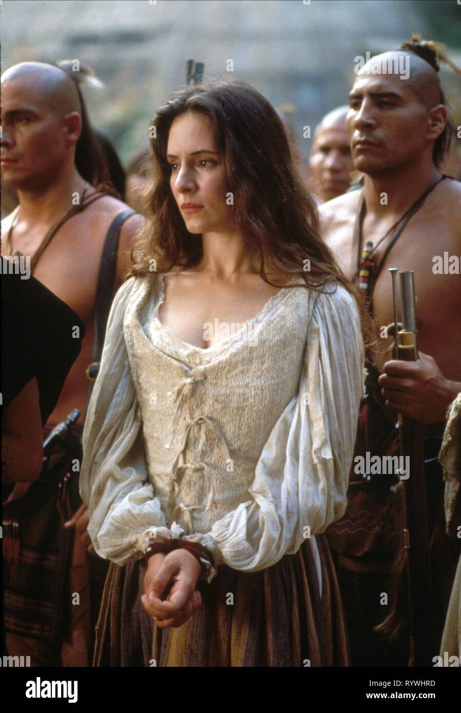 MADELEINE STOWE, el último de los mohicanos, 1992 Foto de stock