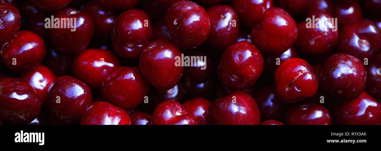Rojo cereza, close-up como fondo Imagen De Stock