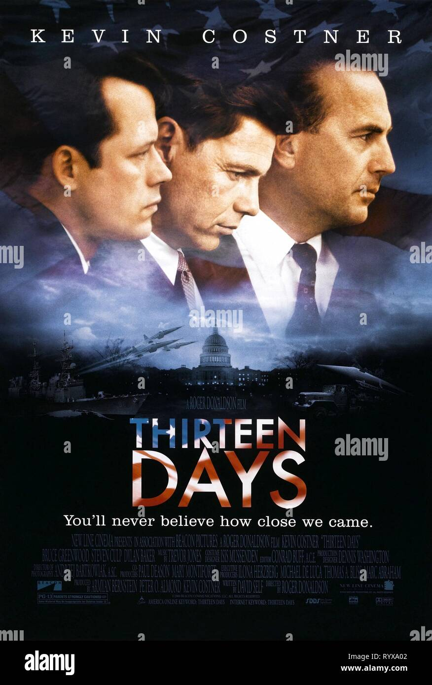 STEVEN CULP, Bruce Greenwood, Kevin Costner póster, trece días, 2000 Imagen De Stock