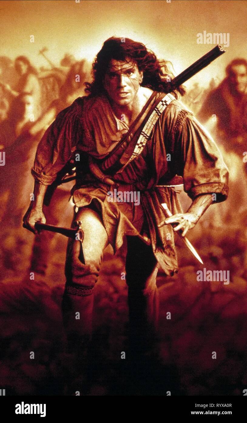 DANIEL DAY-Lewis, el último de los mohicanos, 1992 Foto de stock