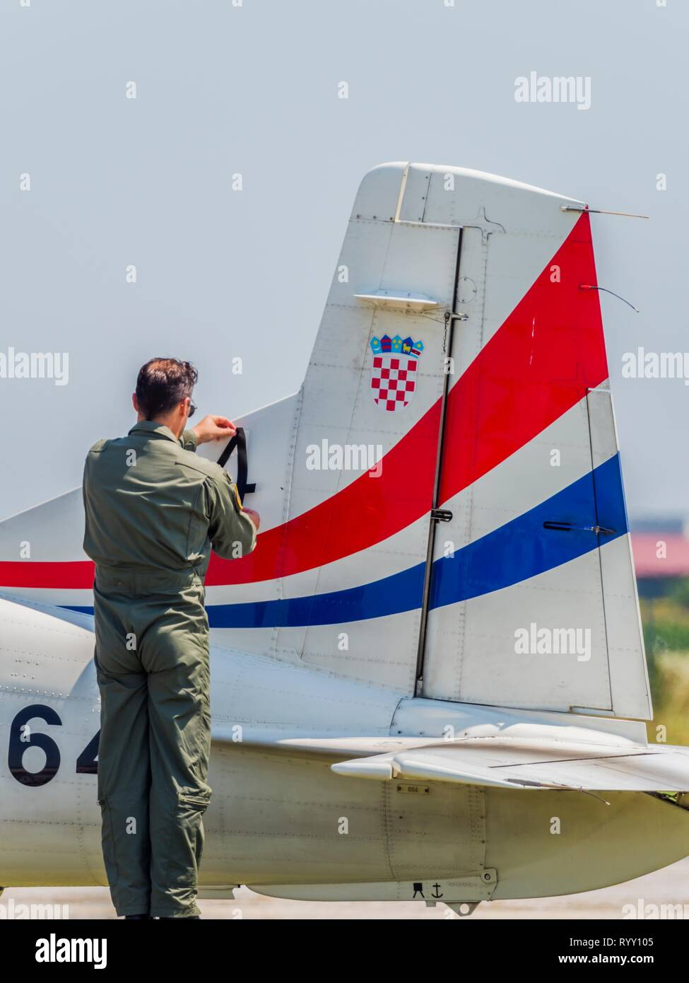 Pilatus PC9 PC-9 de Krila oluje Alas de tormenta Foto de stock