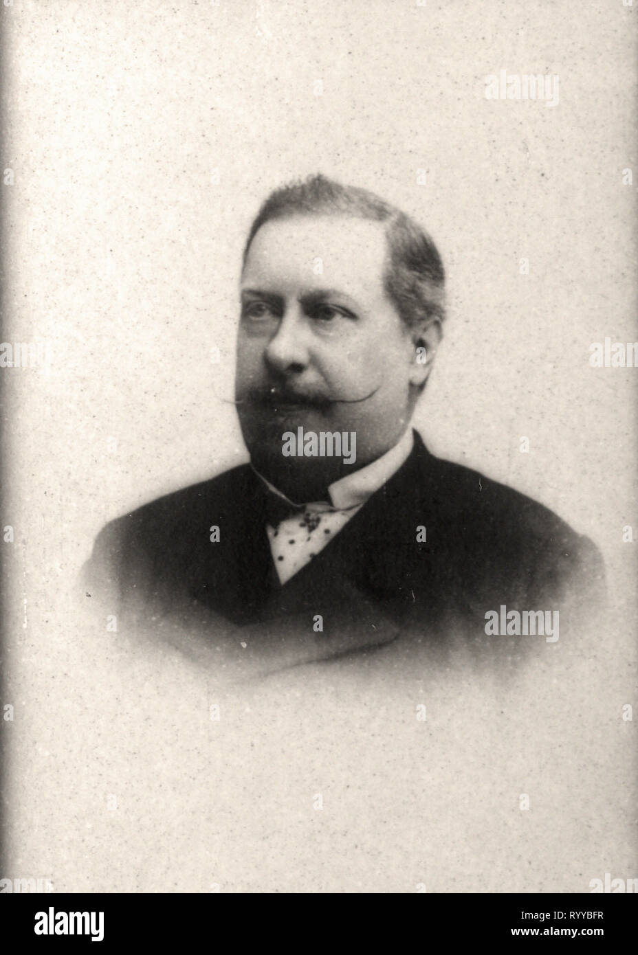Retrato fotográfico de Louis Ier Roi De Portugal desde la colección Félix Potin, de principios del siglo XX. Foto de stock