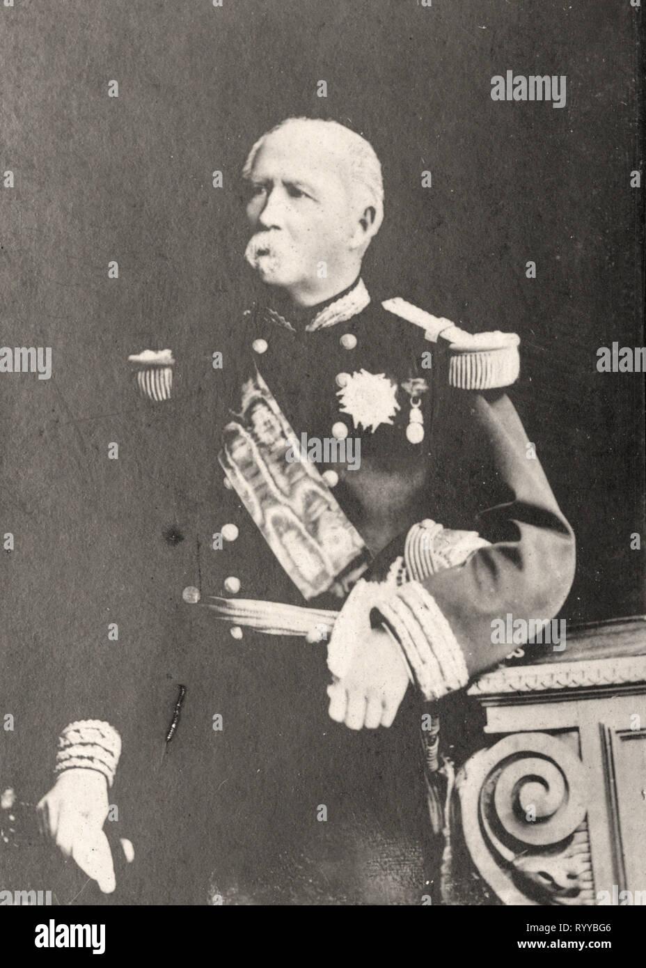 Retrato fotográfico de Mac Mahon desde la colección Félix Potin, de principios del siglo XX. Foto de stock