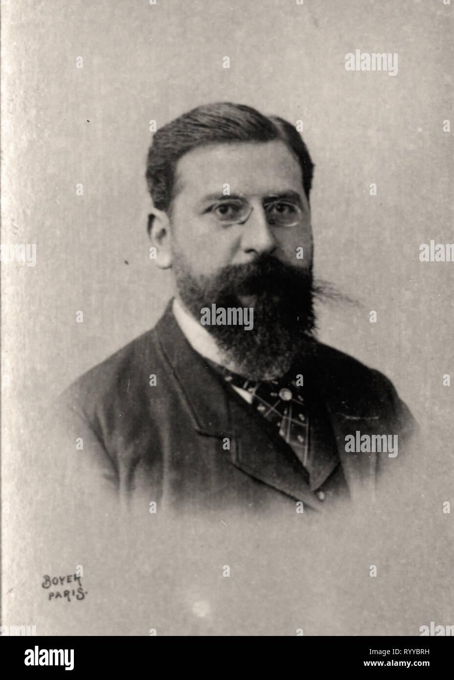 Retrato fotográfico de Pugno Colección de Félix Potin, de principios del siglo XX. Foto de stock
