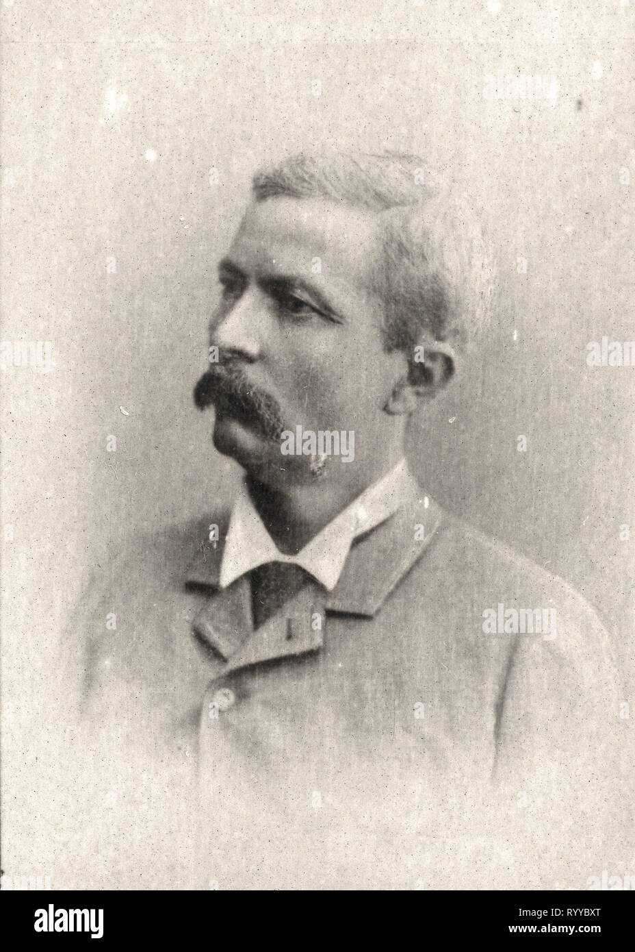 Retrato fotográfico de Stanley desde la colección Félix Potin, de principios del siglo XX. Foto de stock