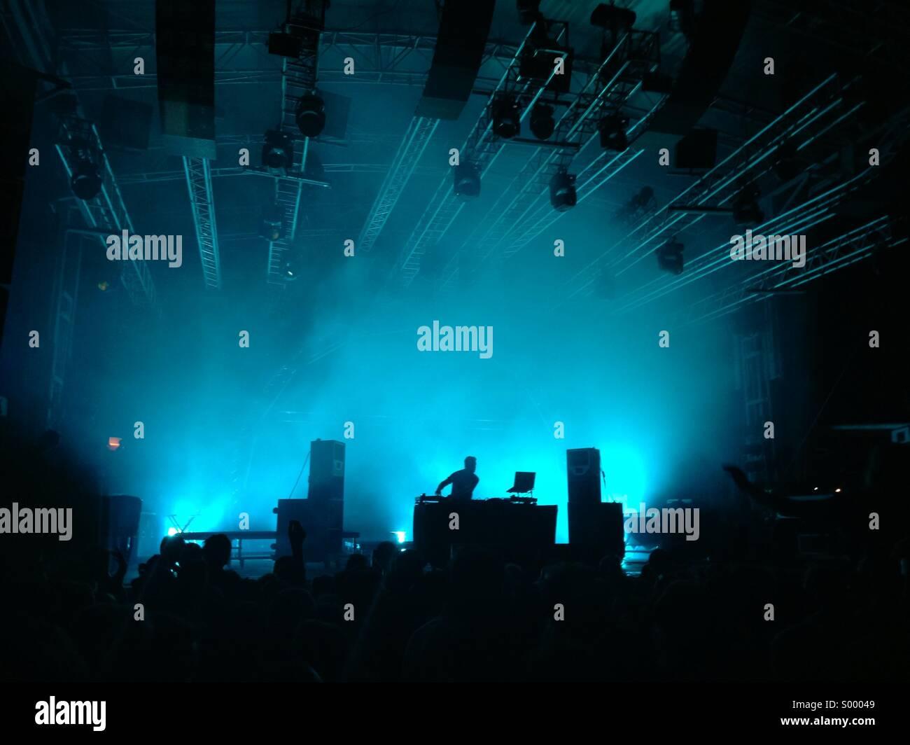 DJ en vivo y en directo la etapa Imagen De Stock