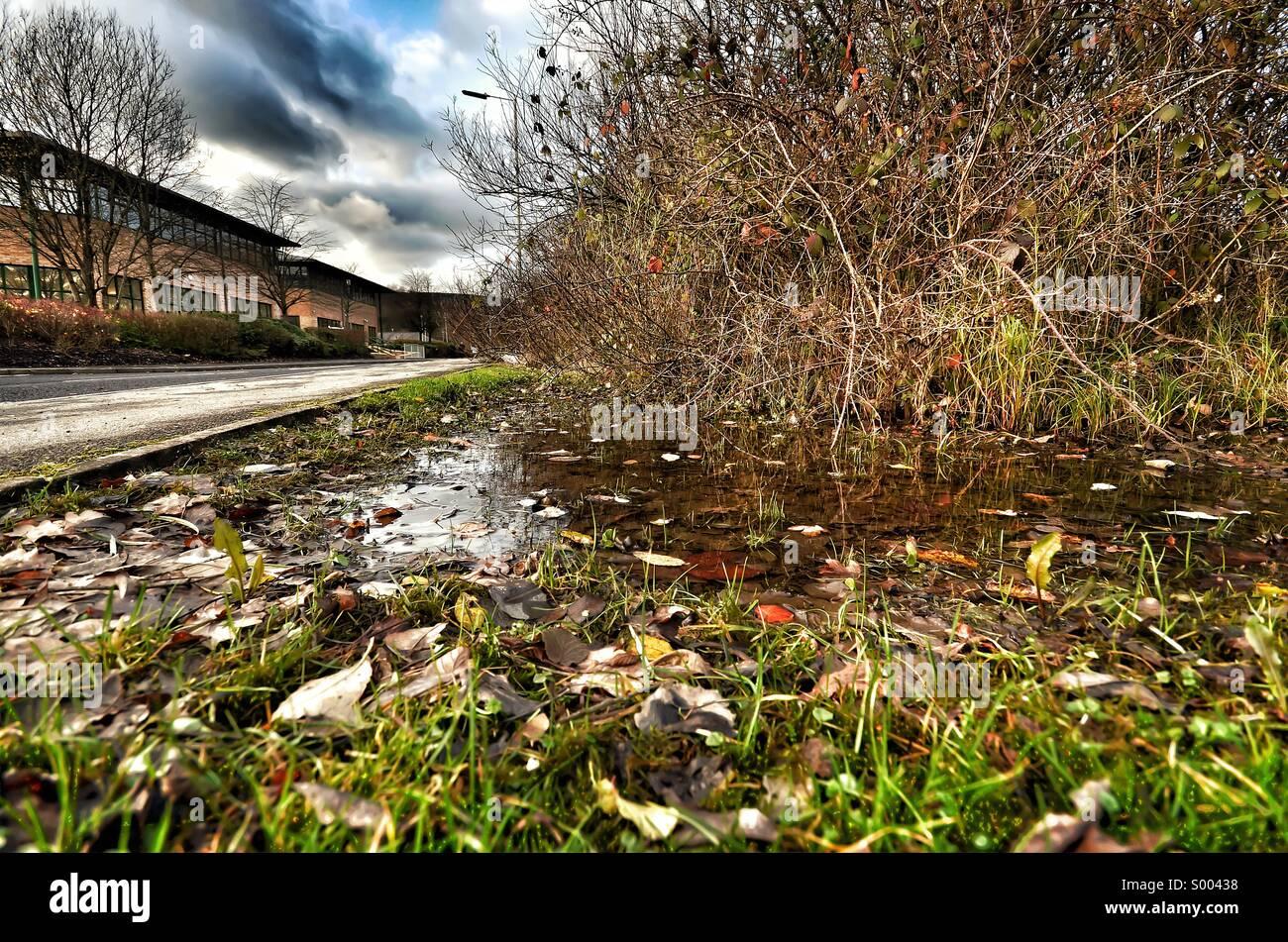 Mañana de invierno - escena urbana Imagen De Stock