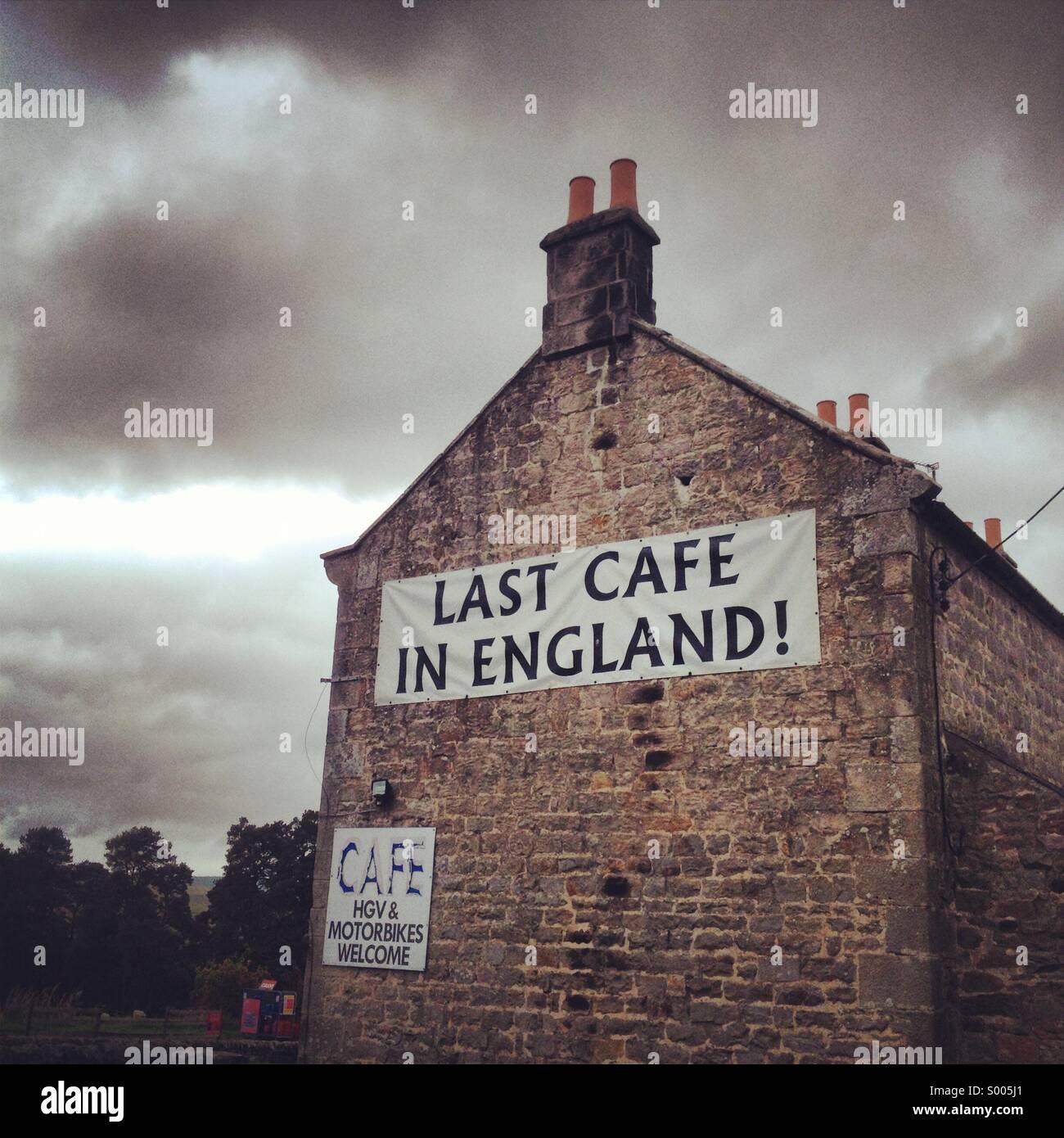 Último cafe en Inglaterra! Imagen De Stock