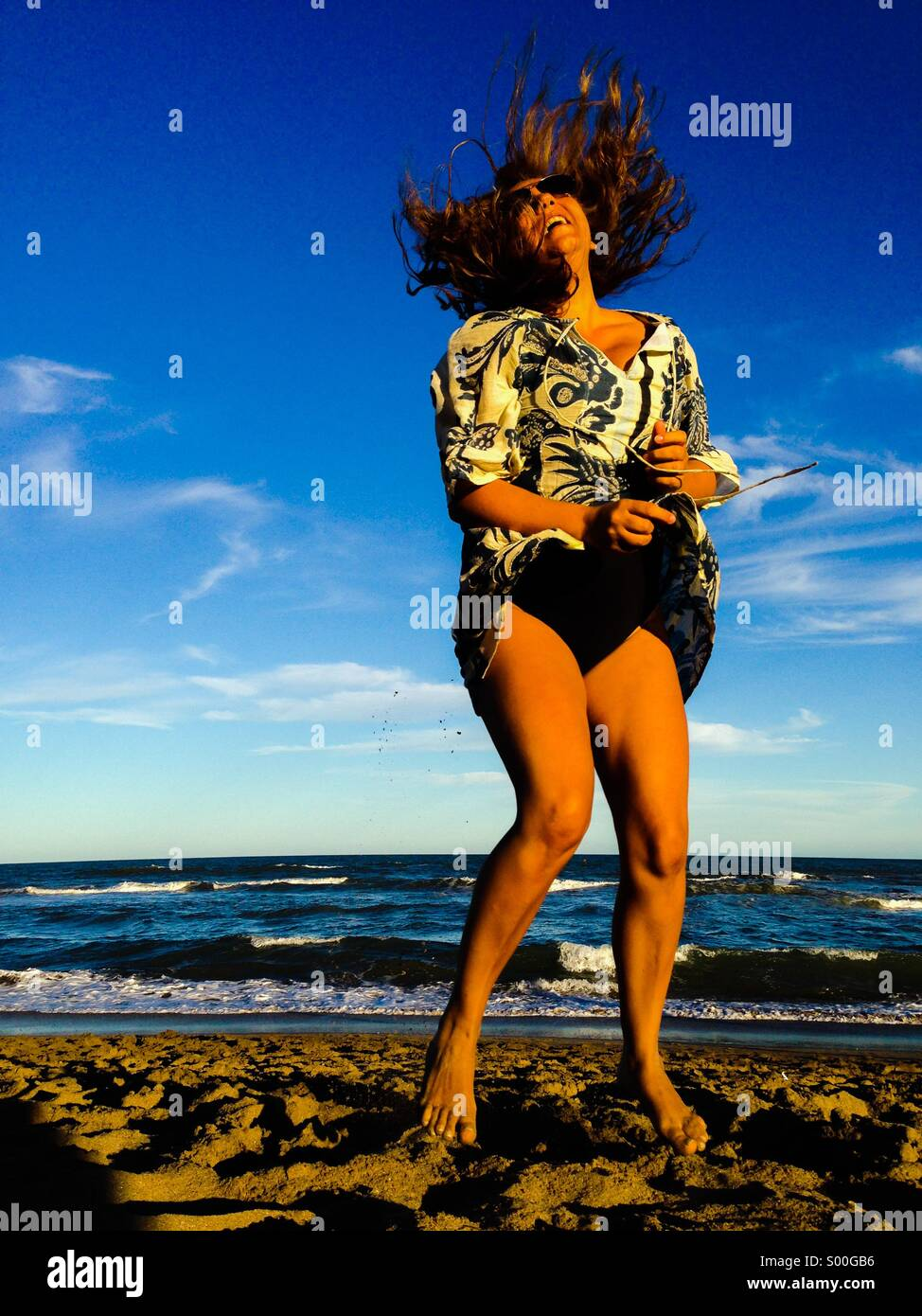 Alegría en la playa Imagen De Stock