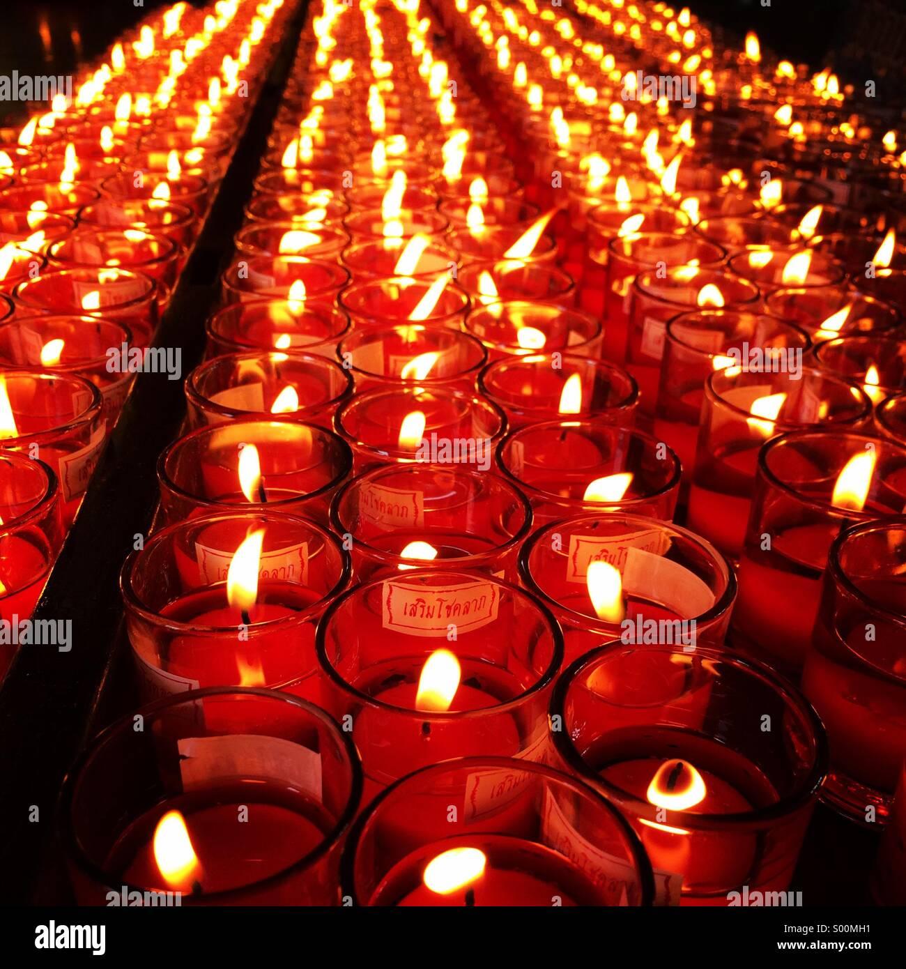 Luz de la vela Imagen De Stock