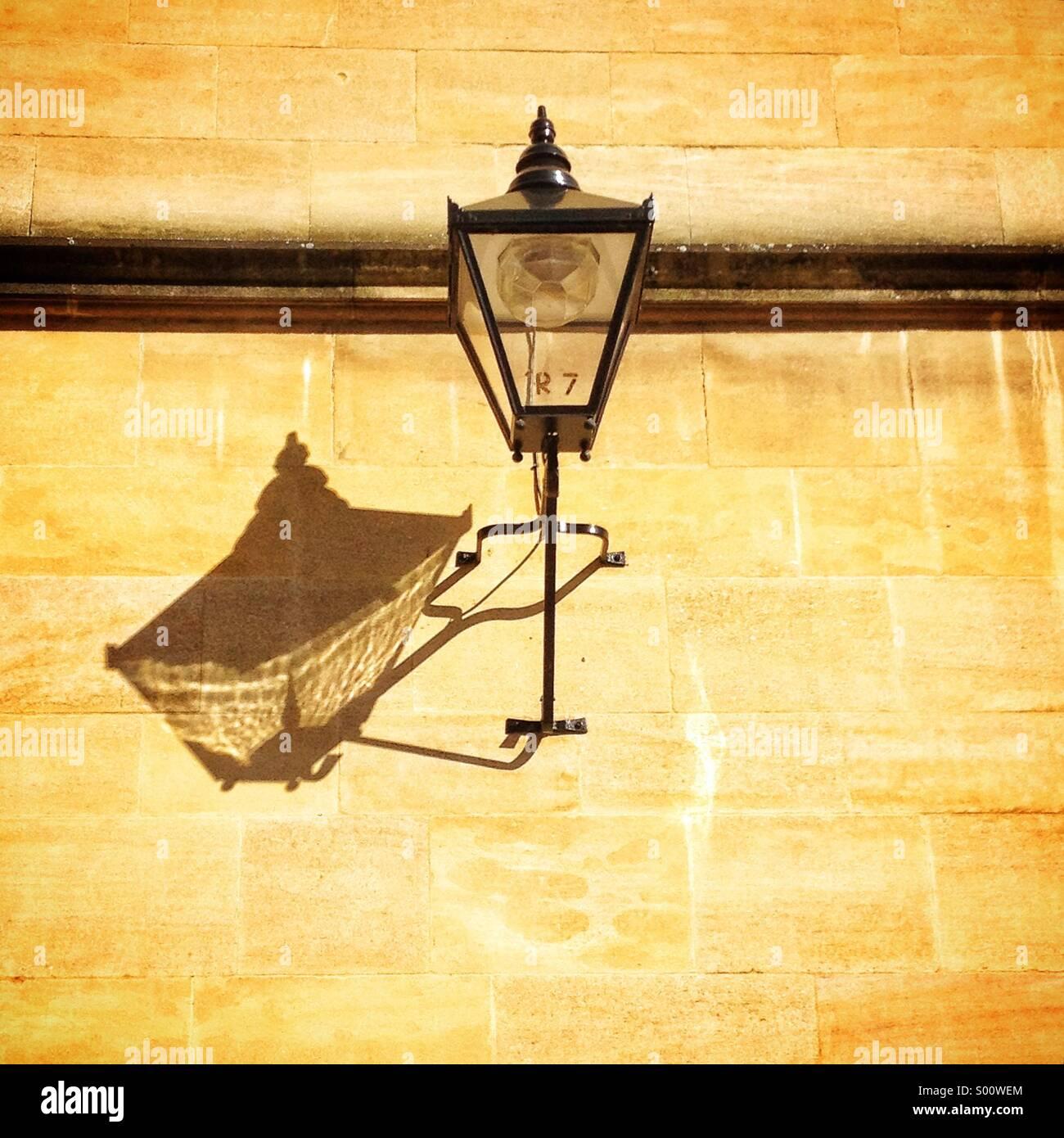 Lámpara vieja, Oxford, Reino Unido Imagen De Stock