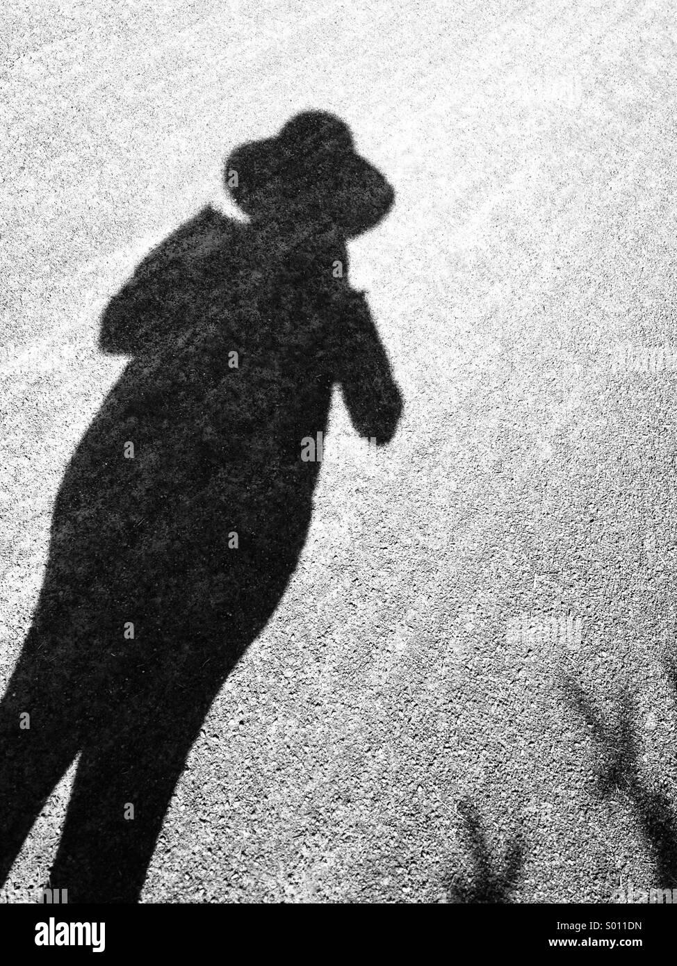 Mujer de sombra Imagen De Stock
