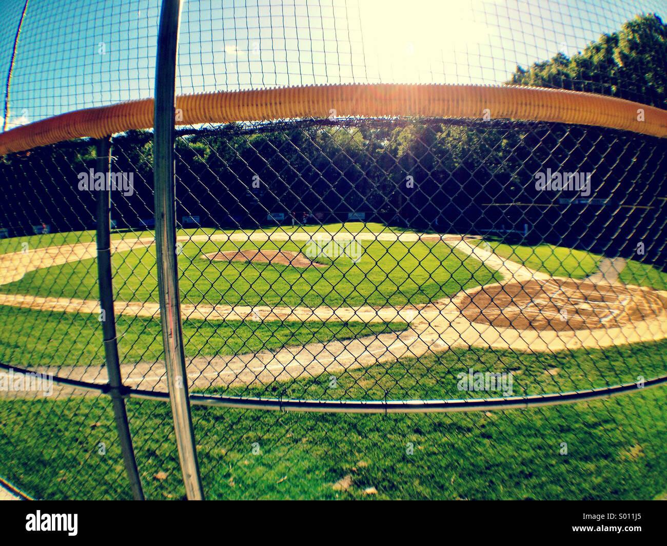 Campo de béisbol juvenil. Imagen De Stock