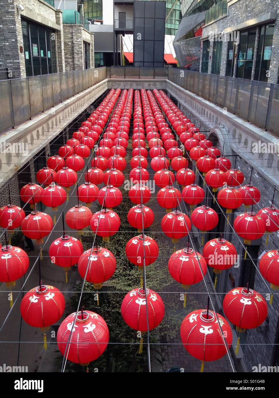 Una matriz de Año Nuevo Chino linternas Imagen De Stock