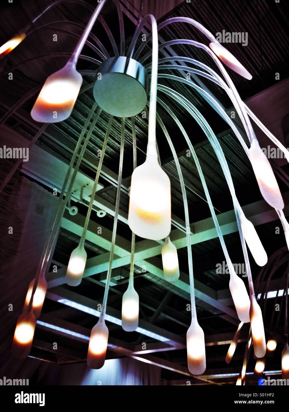La pantalla de luces Imagen De Stock