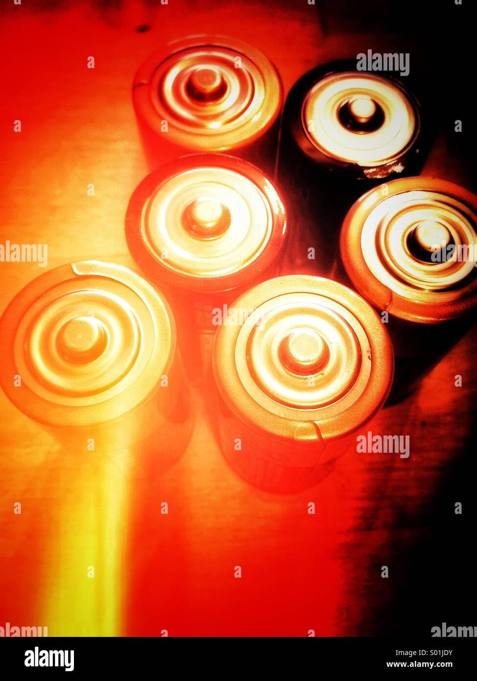 Baterías Imagen De Stock