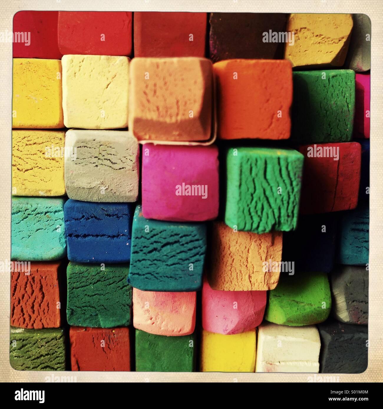 crayones pastel Imagen De Stock