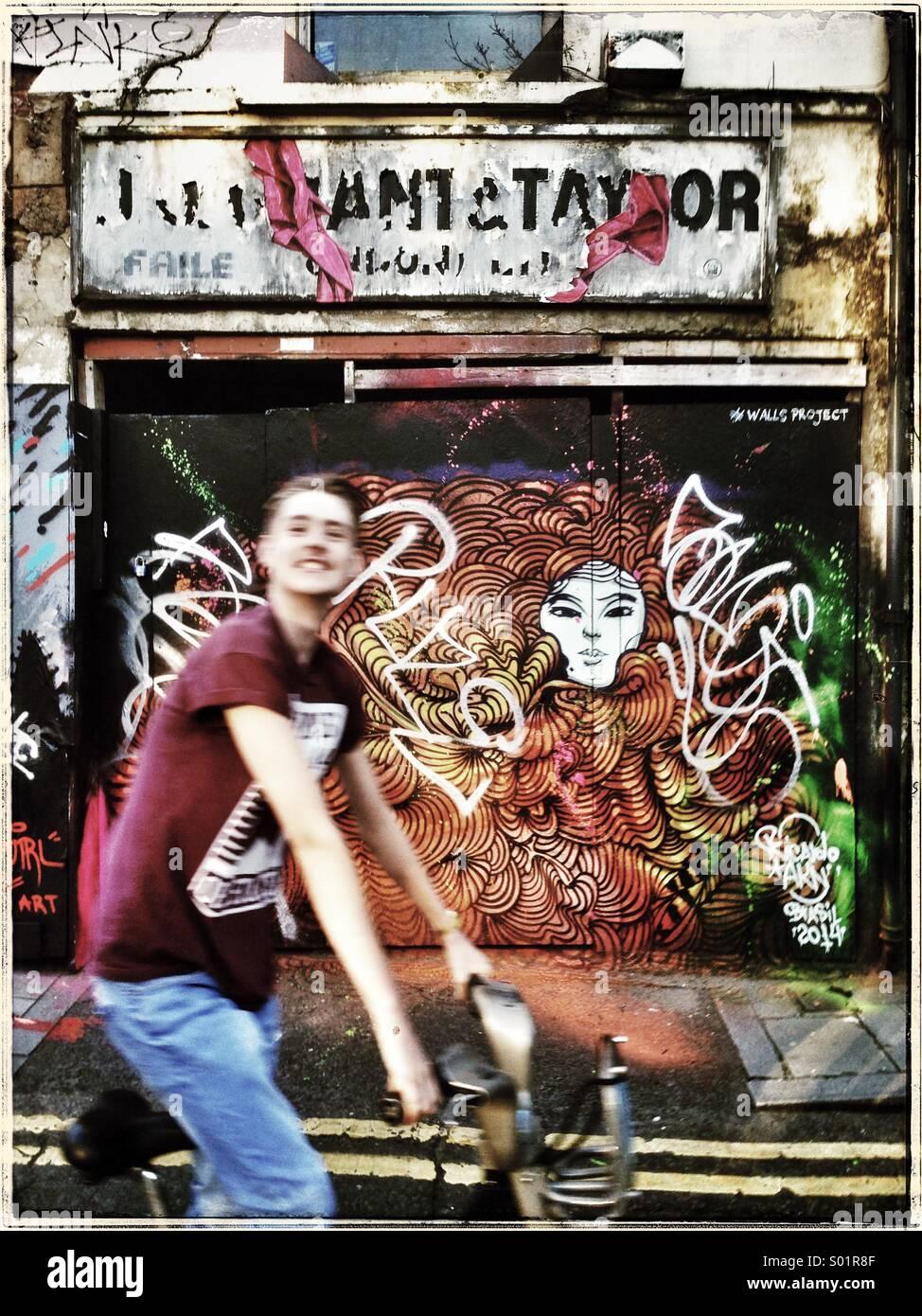 Pared de graffiti Imagen De Stock