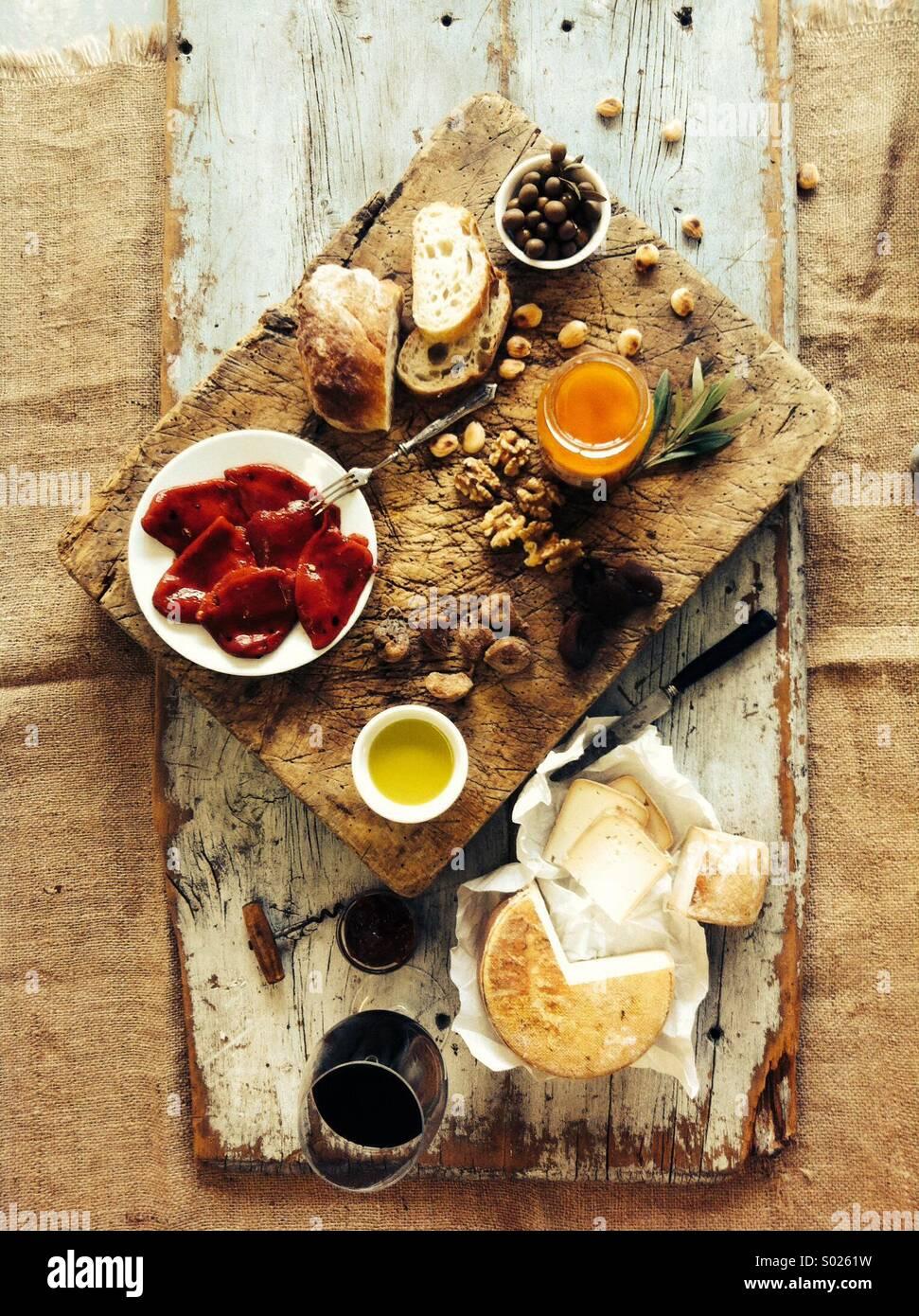 Exuberantes comida española Imagen De Stock